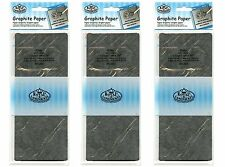 "3 packs 18"" x 36"" Sheets Grey Graphite Artist Trace Down Transfer Paper RD203"