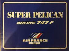 AIR FRANCE AIRLINES B747 CUTAWAY BROCHURE 1982 POSTER