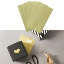 120PCS Golden Heart Cake Candy Packaging Sealing Label Sticker For DIY Baking