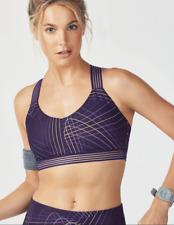 82b3a56bcf FABLETICS Monique Sports Bra Medium Impact Lightspeed Purple Run Yoga Top  size S