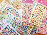 19 Designs! cute Puffy Stickers / 6er-Bogen Transparente Aufkleber Kawaii DIY