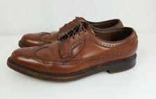 Vintage FLORSHEIM IMPERIAL Mens Shoes Brown 10.5 D Wingtip Pebble Leather 10 1/2