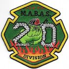 "M.A.B.A.S.  Division - 20, Illinois (4"" x 4"" size) fire patch"