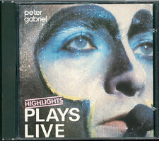 PETER GABRIEL-PLAYS LIVE HIGHLIGHTS CD west germany Blue Virgin