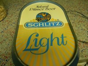Schlitz Light Advertising Beer Sign works