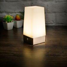 PIR Motion Sensor Night Light Battery Powered LED Table Lamp Warm White Wireless