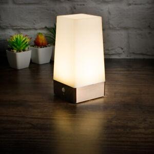 PIR Motion Sensor Night Light Battery Powered LED Table Lamp Warm White Wireless