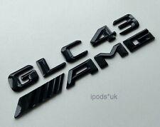 NEW MERCEDES BENZ GLC43 AMG REAR BOOT BACK GLOSS BLACK BADGES