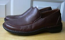 Rockport Womens Brown Leather Moc Toe Slip on Loafer Shoes sz 6