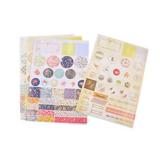 1 Set Floral Pattern Paper Stickers Labels DIY Scrapbooking Diary Notebook