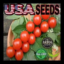 320 Large Red Cherry Heirloom Organic Tomato Seeds Non-Gmo Sweet Tasty! Survival