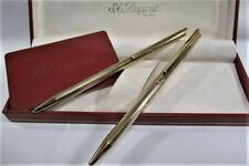 Rare! Vintage S.T. DUPONT GOLD Ballpoint pen & Pencil Set