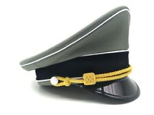 WW2 German Elite Whipcord Officer Hat Officer Cap W Chin Pipe Gold Cord 57~60 cm