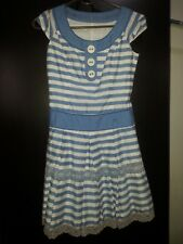 BRBY Blue Label Cap Sleeved Stripes Dress