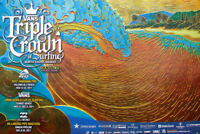 2011 New Official Triple Crown of Surfing Surf Contest North Shore Hawaii Poster