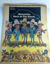 Meanwhile Back At The Ranch 1977 ORIGINAL 1 SHEET MOVIE POSTER CANNES Film Fest