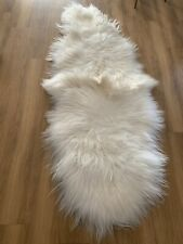 Ivory Icelandic Long Sheepskin Double Length