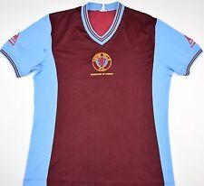 1982 ASTON VILLA CHAMPIONS OF EUROPE LE COQ SPORTIF HOME FOOTBALL SHIRT (SIZE S)