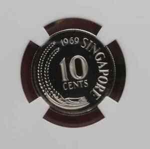 1969 Singapore 10 cents NGC Proof PF69UC