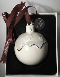 PANDORA Limited 2018 Christmas Holiday Porcelain Ornament in Gift Box New