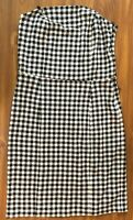 AO International Dress Womens Size 8 Black and White Checkered Strapless FLAWS