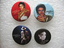 4 BADGES MICHAEL JACKSON / KING OF POP / MUSIQUE MUSIC brooch pin BROCHE F32