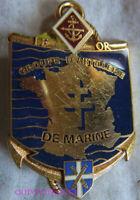 IN17487 - INSIGNE 1° Régiment, Groupe d'Artillerie de Marine, IFOR (avec 40° R.A