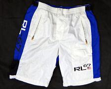 Ralph Lauren RL blue white swim trunk LARGE flag 67 polo sport 1967 shorts beach