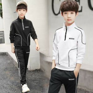 IENENS Kids Baby Boys Outfits Sets Tops + Trousers Cotton Casual Clothing Suits
