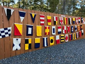Set of 40 Nautical Signal Code Flags - High Quality, Hand Sewn, Double Sided