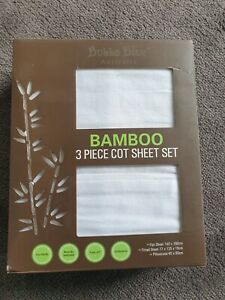 Bubba Blue Bamboo Cot Sheet Set