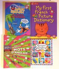 4 LIVRES ANGLAIS FRANCAIS premier dictionnaire mots Imagerie Disney jeunesse