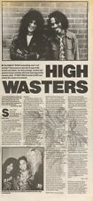 14/4/90Pgn14 Article & Picture(s) high Wasters Guns N Roses Commit Rock Suicide