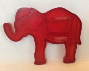 Vintage Cookie Cutters Red Plastic Circus Elephant