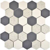 Keramikmosaik beige Fliesenspiegel Küche Dusche Bad WC 11G-0113-R10 | 10 Matten