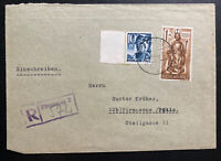 1948 Pirmasens Germany Allied occupation Registered Cover Locally Used