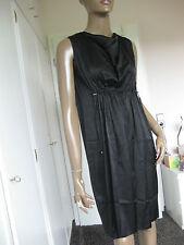 Marc Cain zauberhaftes Kleid N3 / 38  schwarz   Marccain   NEU  Seide
