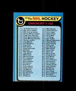 1979-80 TOPPS HOCKEY NHL UNMARKED CHECKLIST 1-132 #131