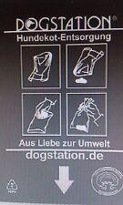 1000 Stück Hundekotbeutel Tüte schwarz biologisch abbaubar 10x100Stk.abreißbar