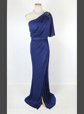 New Authentic Jovani 6356 Navy One-Shoulder Gala Pageant Prom Long Dress 2