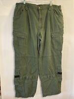 Woolrich Elite Series Tactical Utility Cargo Pants Men's 42x32 Green Police