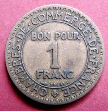 Antico 1923 FRANCIA 1 Franco Coin 94 anni molto da collezione