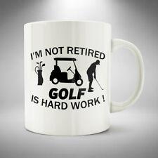 Golf Retirement Mug / Cup Coffee Tea Funny Retired Work Golf Course