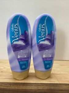 Gillette Venus With Olay Moisturizing Shower & Shave Cream Freesia 10oz EA LOT 2