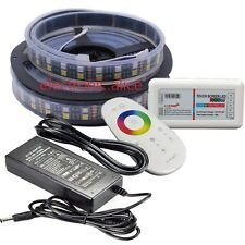 24V 5M RGB+WW 5050 600LED Double Row LED Strip IP67 +2.4G RGBW controller+power