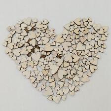 100 Stück Holz Herz Streudeko  Liebe Hochzeit Dekoherzen Mini Streuteile Vintage