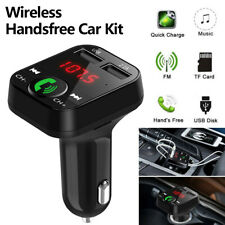 In Car Fm Transmitter Bluetooth Radio Mp3 Wireless Adapter Car Kit Usb Charger 2