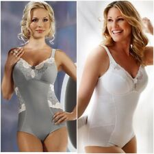ff2dbf8d14d88 Swegmark Faithful Shaping Stretch Cotton Lace Body Corselette 37570 RRP  £60.00
