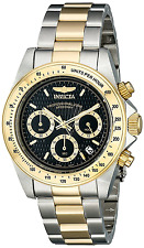 Invicta Men's Speedway Quartz Watch with Black Dial Chronograph Display and Mult