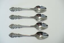 4 Oneida Artistry SOUTHERN BAROQUE Fruit Spoons - Glossy USA Stainless Flatware